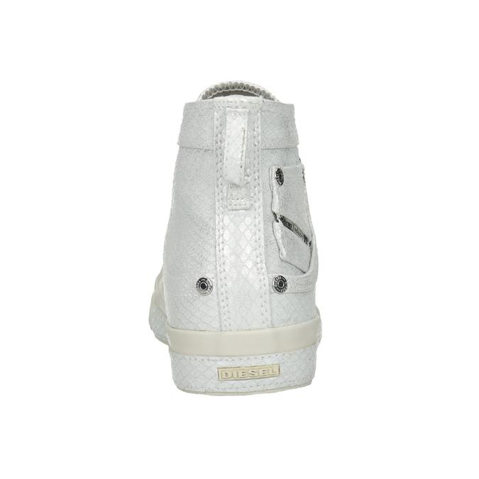 White ankle sneakers diesel, white , 501-6743 - 15