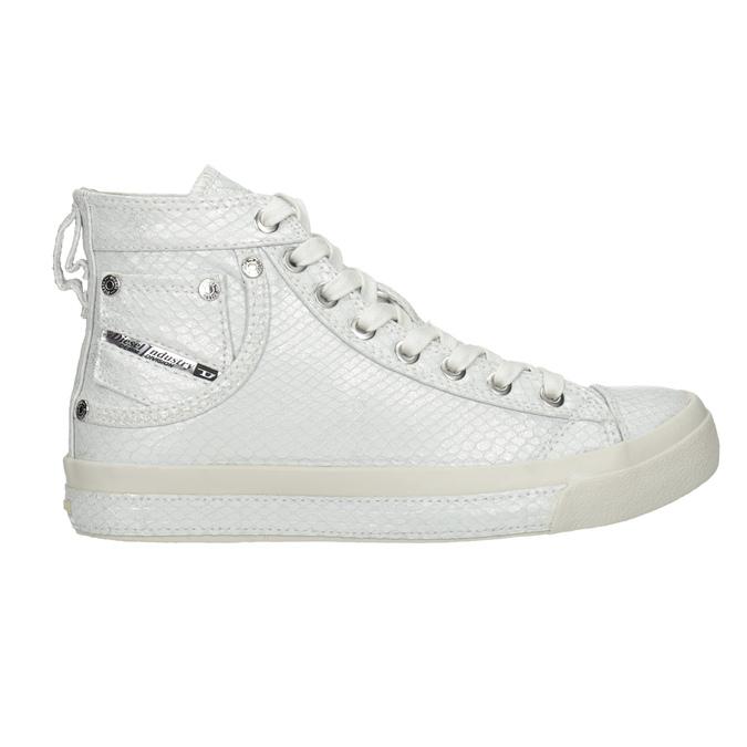 White ankle sneakers diesel, white , 501-6743 - 16
