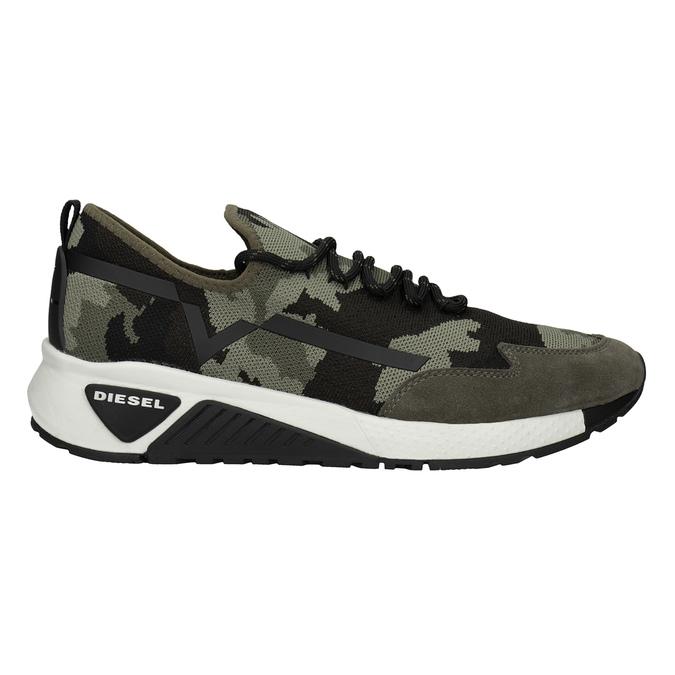 Men's patterned sneakers diesel, green, 809-7602 - 26