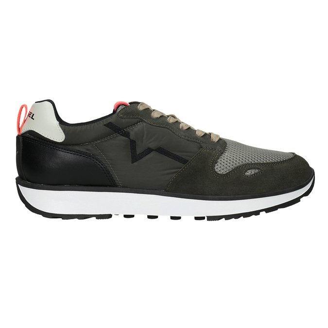 Men's sneakers with distinctive sole diesel, green, 809-7638 - 26