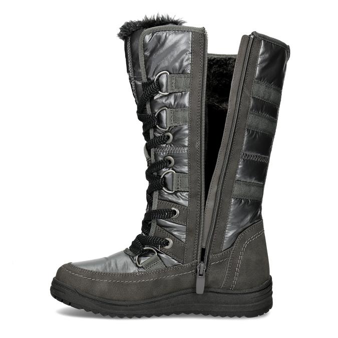 Ladies' winter snow boots bata, gray , 599-2619 - 17
