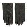 Black leather gloves bata, black , 904-6130 - 26