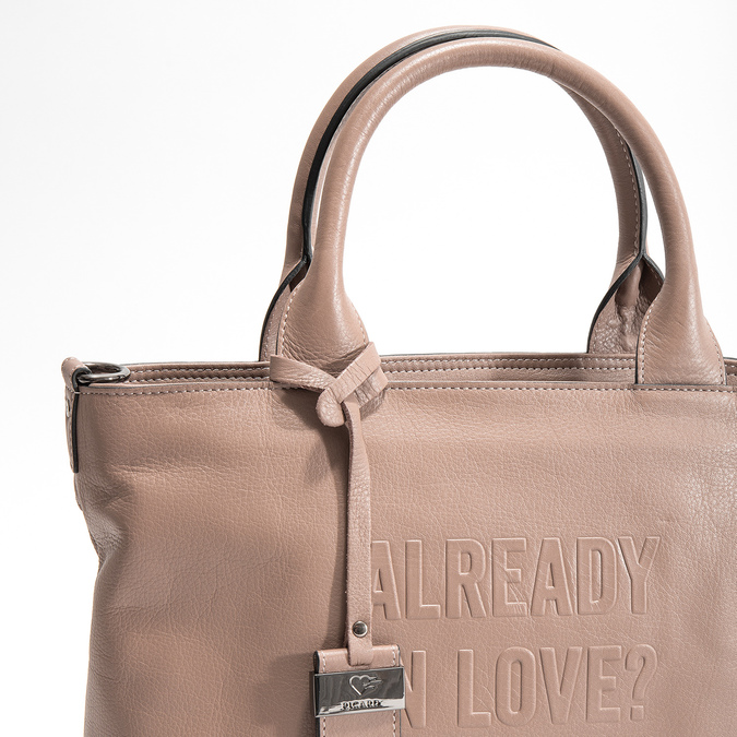 Beige Leather Handbag picard, beige , 964-6080 - 19