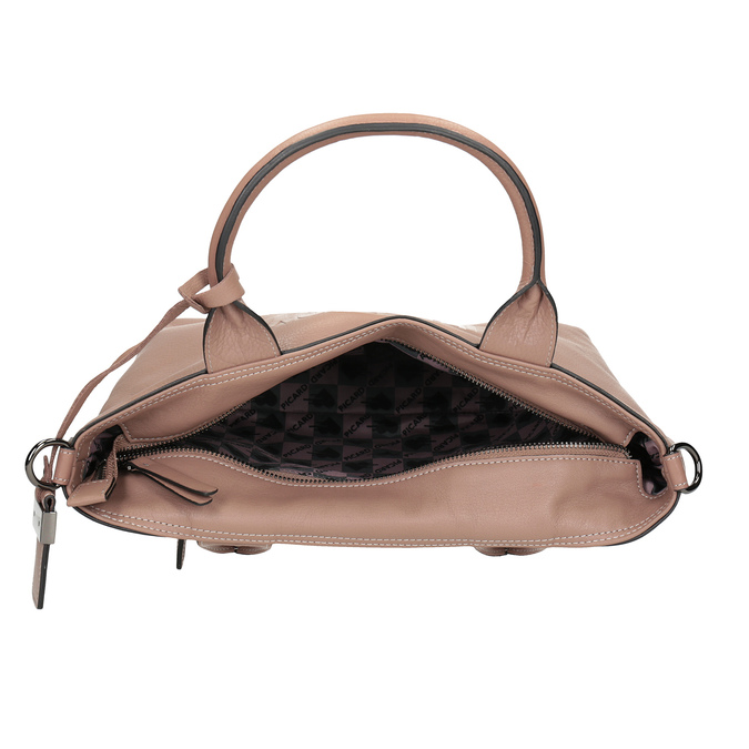 Beige Leather Handbag picard, beige , 964-6080 - 17