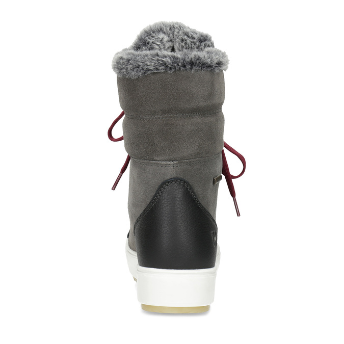 Ladies' leather snow boots weinbrenner, gray , 593-4601 - 15