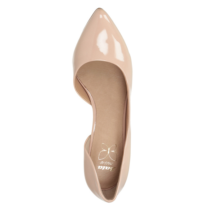 Patent pinkish cream-colored pumps insolia, beige , 721-5615 - 15