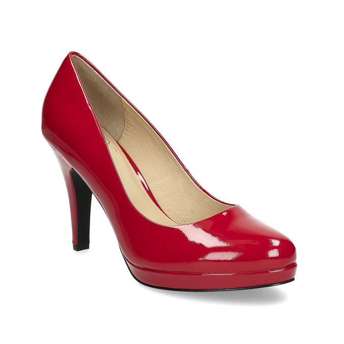 Red patent leather pumps insolia, red , 728-5104 - 13