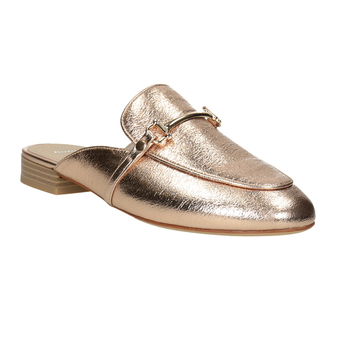 Ladies' slippers with a buckle bata, gold , 511-8609 - 13