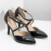 Pumps with crossed straps insolia, black , 721-6617 - 26