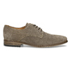 Men's Derby Shoes with Broguing bata, brown , 823-8616 - 19