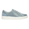 Ladies' leather sneakers with small pearls bata, blue , 546-9606 - 26