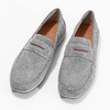Men's brushed leather moccasins bata, gray , 853-2614 - 16