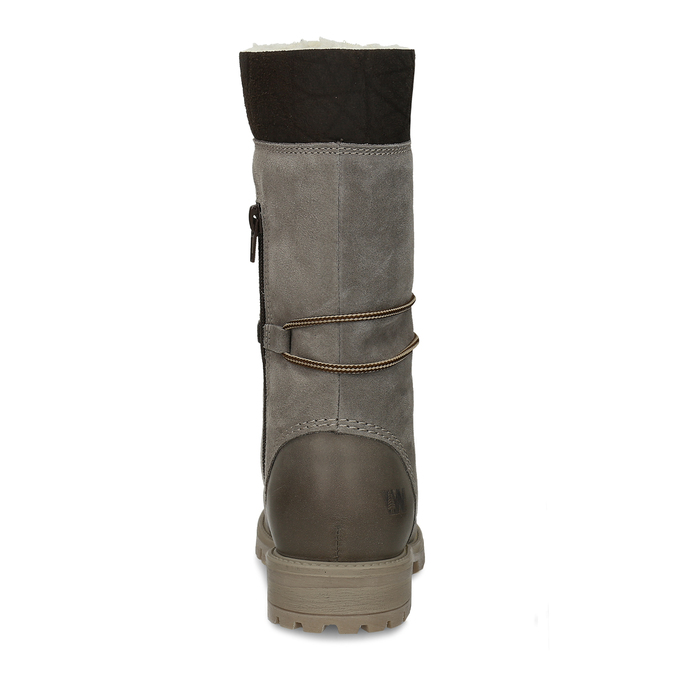 Ladies' lace-up winter boots weinbrenner, gray , 593-2476 - 15