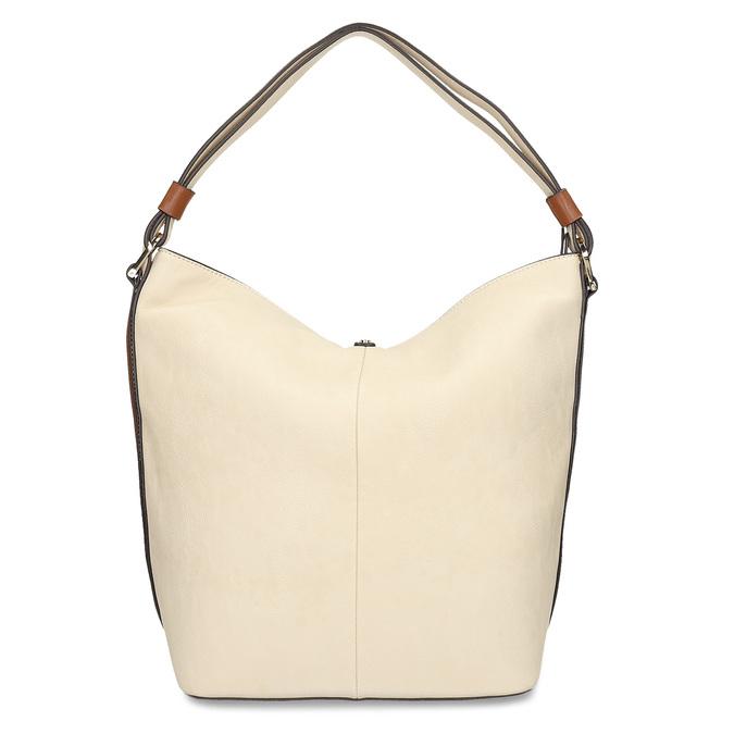 Hobo-style handbag, beige , 961-8705 - 16